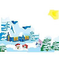 Decal trang trí noel ngôi nhà tuyết - có sẵn keo -PK194 thumbnail