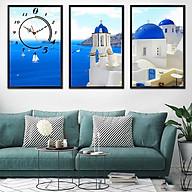 Tranh treo tường, tranh đồng hồ NT170 bộ 3 tấm ghép thumbnail