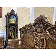 Đồng hồ tháp cổ điển gỗ mun đuôi công DH24 thumbnail