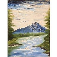 Tranh sơn dầu sáng tác vẽ tay Non nước thumbnail