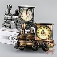 Đồng hồ báo thức tàu hỏa cổ điển để trang trí bàn làm việc nhà cửa xe lửa thumbnail