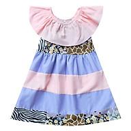 Đầm Bé Gái Bèo Cổ Vải Phối Tầng CucKeo Kids thumbnail