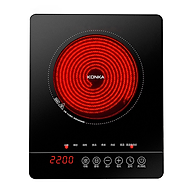 Bếp Hồng Ngoại Konka KES-22P3 đun nhanh sôi mặt kính chống trượt rất tiện cho việc xào nấu - hàng nhập khẩu thumbnail