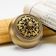 Lư trầm dùng để xông trầm hương kiểu dơi trầu chữ phúc ngũ phúc lâm môn bằng đồng thau phong thủy thumbnail