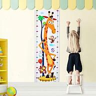 Thước đo chiều cao dán tường hình hươu cao cổ độc đáo dành cho bé thumbnail
