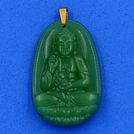 Mặt Dây Chuyền Phật A Di Đà thạch anh xanh 3.6cm - phật bản mệnh tuổi Tuất, Hợi - mặt size nhỏ thumbnail