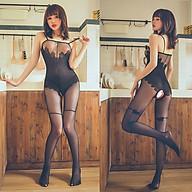 Đồ Ngủ Hai Dây Lưới Mịn Hoa Hồng Đen Xuyên Thấu Khoét Đáy Sexy Bodystocking Erotic Lingerie Nightwear Brave Man BCS21 34 thumbnail