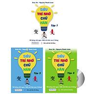 Siêu trí nhớ chữ Hán tập 01 + tập 02 + tập 03 phiên bản mới (In màu, có Audio nghe, hướng dẫn viết từng nét từng chữ) + DVD quà tặng thumbnail