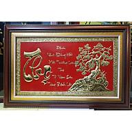 Tranh đồng vàng liền tấm chạm khắc nổi- Chữ Thọ-A213 thumbnail