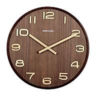 Đồng hồ treo tường gỗ cao cấp GeekCook - Dạng kim trôi, khung viền nguyên khối thumbnail