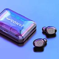 Tai Nghe Bluetooth Thể Thao True WireLess CONVI CVF9 Âm thanh 8D Hifi Kháng nước IPX5 Pin 1200 mAh kiêm sạc dự phòng Đèn led hiển thị pin tai nghe - Hàng Chính Hãng thumbnail