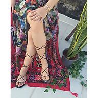 Giày sandal cột dây chiến binh dây nhỏ, có thể cột cao lên đầu gối, hoặc cột ở cổ chân cho gọn, phù hợp để đi làm, đi học, đi chơi - ngang thumbnail