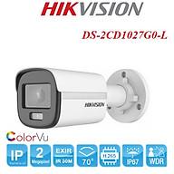 Camera ip thân 2.0MP ColorVu Hikvision DS-2CD1027G0-L có màu ban đêm, chống bụi và nước IP67,hỗ trợ chức năng cấp nguồn qua Ethernet PoE. Hàng chính hãng thumbnail