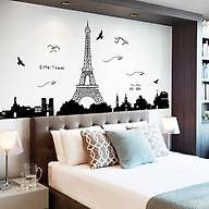 Decal dán tường trang trí sang trọng thành phố PARIS phòng khách, phòng ngủ sinh động thumbnail