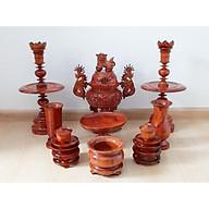 Bộ đồ thờ bằng gỗ hương (Gia Lai) 9 món thumbnail