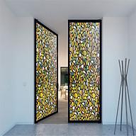 Decal dán kính mờ sỏi đá sắc màu - Decal dán kính phòng khách - phòng ngủ - khách sạn - nhà hàng - decal dan kinh Binbin DK53 thumbnail