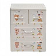 Tủ đựng quần áo Panda Song Long 3 tầng có khóa - Màu ngẫu nhiên thumbnail
