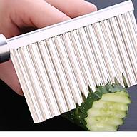 Dao cắt sóng tạo kiểu inox 304 - 22.5x6cm 75g thumbnail