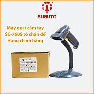 Máy quét mã vạch cầm tay có dây đơn tia Laser 1D SC-760S (kèm chân đế) - hàng chính hãng thumbnail