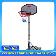 Chân trụ bóng rổ trường học chuyên nghiệp hàng nhập khẩu kích thước ngang 75cm Rộng 55cm x Cao 200-240 cm thumbnail