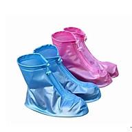 Combo 2 đôi ủng bọc giày đi mưa siêu bền đẹp - màu Xanh và Hồng thumbnail
