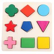 Bảng Ghép Gỗ Hình Học 1-3 Miếng. Đồ Chơi Giáo Dục Sớm Montessori ETED13NYN1647 thumbnail