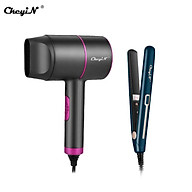 Ckeyin 2 in 1 Hair Straightener and Curler Iron and 2000W High Power Hair Dryer Set thumbnail