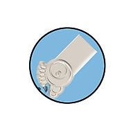 Cáp sạc, truyền dữ liệu micro kiểu dáng dễ thương bằng vải dù dài 1m - Stitch Micro 5Pin Charging & Data Cable Actto USB-27 - Hàng chính hãng thumbnail
