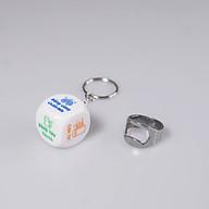 Combo Xúc xắc Uống bia viên lớn 2.5 cm có Móc khoá và Nhẫn Khui Bia thumbnail