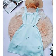 Đầm dự tiệc chất phi mờ cao cấp sang trọng may 2 lớp, lót cotton mềm mịn thoáng mát thumbnail