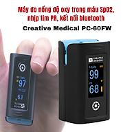 Máy đo nồng độ oxy trong máu SpO2 và nhịp tim Creative Medical PC-60FW, kết nối bluetooth thumbnail