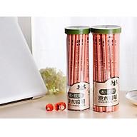 Hộp 50 bút chì gỗ 2B Y310 cao cấp, Tặng kèm Combo 10 bút bi nước màu xanh văn phòng thumbnail