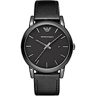 Emporio Armani Men s AR1732 Dress Black Leather Watch thumbnail