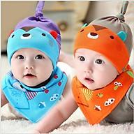 Bộ mũ kèm khăn cotton cho bé 3 tới 1 tuổi thumbnail