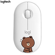Logitech Pebble Wireless Bluetooth Mouse LINE FRIENDS Series-Kenny Rabbit thumbnail
