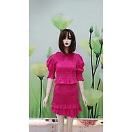 set chân váy kèm áo nhún thun hồng thumbnail