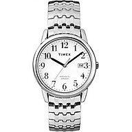 Timex Men s T2P294 Easy Reader Dress Silver-Tone Stainless Steel Expansion Band Watch thumbnail