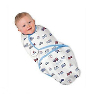 Túi ngủ cho em bé, chăn quấn em bé, ủ kén cotton cho bé họa tiết ngẫu nhiên - Tặng kèm 01 vòng dâu tằm và 01 khăn voan trùm mặt cho bé khi đi ra ngoài thumbnail