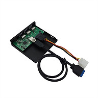 Multifunctional Extended Driver Panel Hub 5.25 3.5 Floppy Front Panel Converter Adapter with Type-C 3 USB3.0 Ports thumbnail