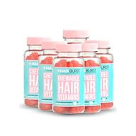 Combo 6 lọ kẹo dẻo vitamin chăm sóc, kích thích mọc tóc HAIRBURST chewable hair vitamins 60 gram lọ thumbnail