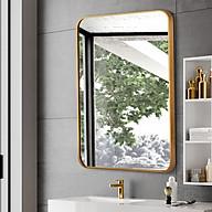 Gương treo tường khung vàng sang trọng thumbnail