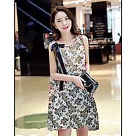 Đầm bầu váy bầu suông họa tiết cột nơ vai thời trang Hàn Quốc mới DN19072507 thumbnail
