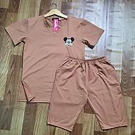 Đồ bộ nữ đẹp mặc nhà áo ngắn tay và quần dài chất liệu thun cotton co giãn thoải mái A043 thumbnail
