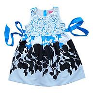 Đầm Xanh In Hoa Ngực Đắp Ren Bé gái Cuckeo kids - T31932 (Size 7) thumbnail