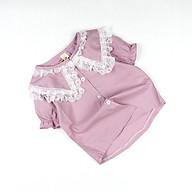 Sơ mi kate nhập phối ren tay ngắn cho bé gái 0.5-3.5 tuổi từ 8 đến 15 kg 03983-03984 thumbnail
