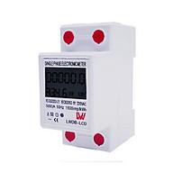 Công tơ điện tử 1P 60A LW đo điện tiêu thụ Kwh độ chính xác cao màn hình LCD hiển thị rõ ràng thumbnail