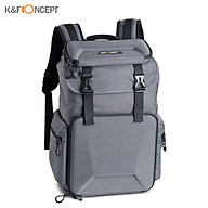 K&F CONCEPT Camera Backpack Photography Storage Bag Waterproof with Removable Divider Lock Buckle thumbnail