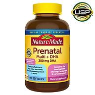 Thực phẩm bổ sung vitamin và DHA cho phụ nữ mang thai Nature Made Prenatal Multi +DHA 200mg, 150 Viên (Mẫu mới 2020) - Nhập khẩu Mỹ thumbnail