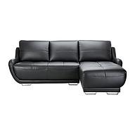 Sofa Da Chữ L Juno Rex 210 x 154 x 80 cm (Đen) thumbnail