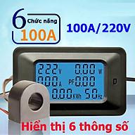 Bộ Công tơ điện tử,Thiết bị đo công suất 100A, đồng hồ điện tử hiển thị 6 thông số 100A thumbnail